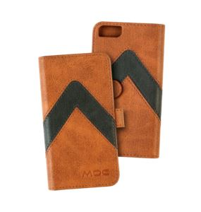 Portfel na telefon MOC Velcro Leather Wallet Brown